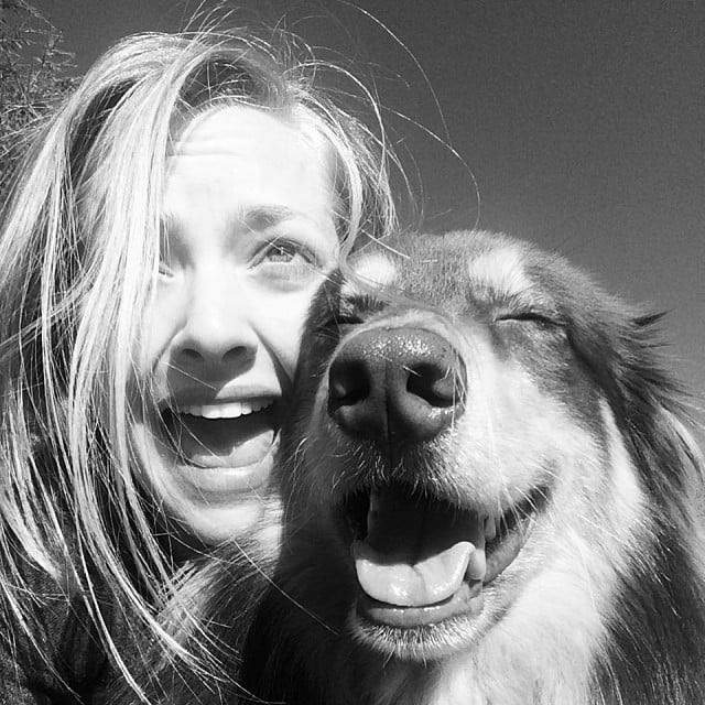 Amanda Seyfried and her dog laughed together. Source: Instagram user mingey