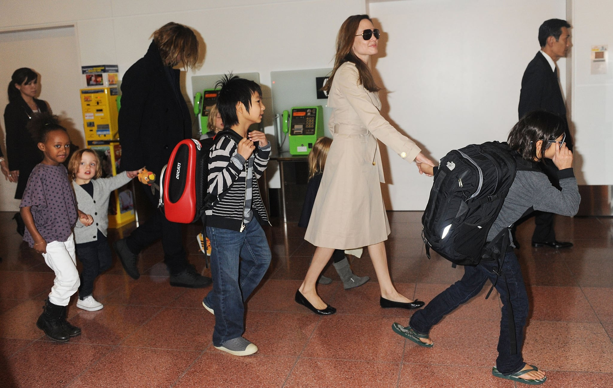 The crew headed to Japan for Brad to promote Moneyball.