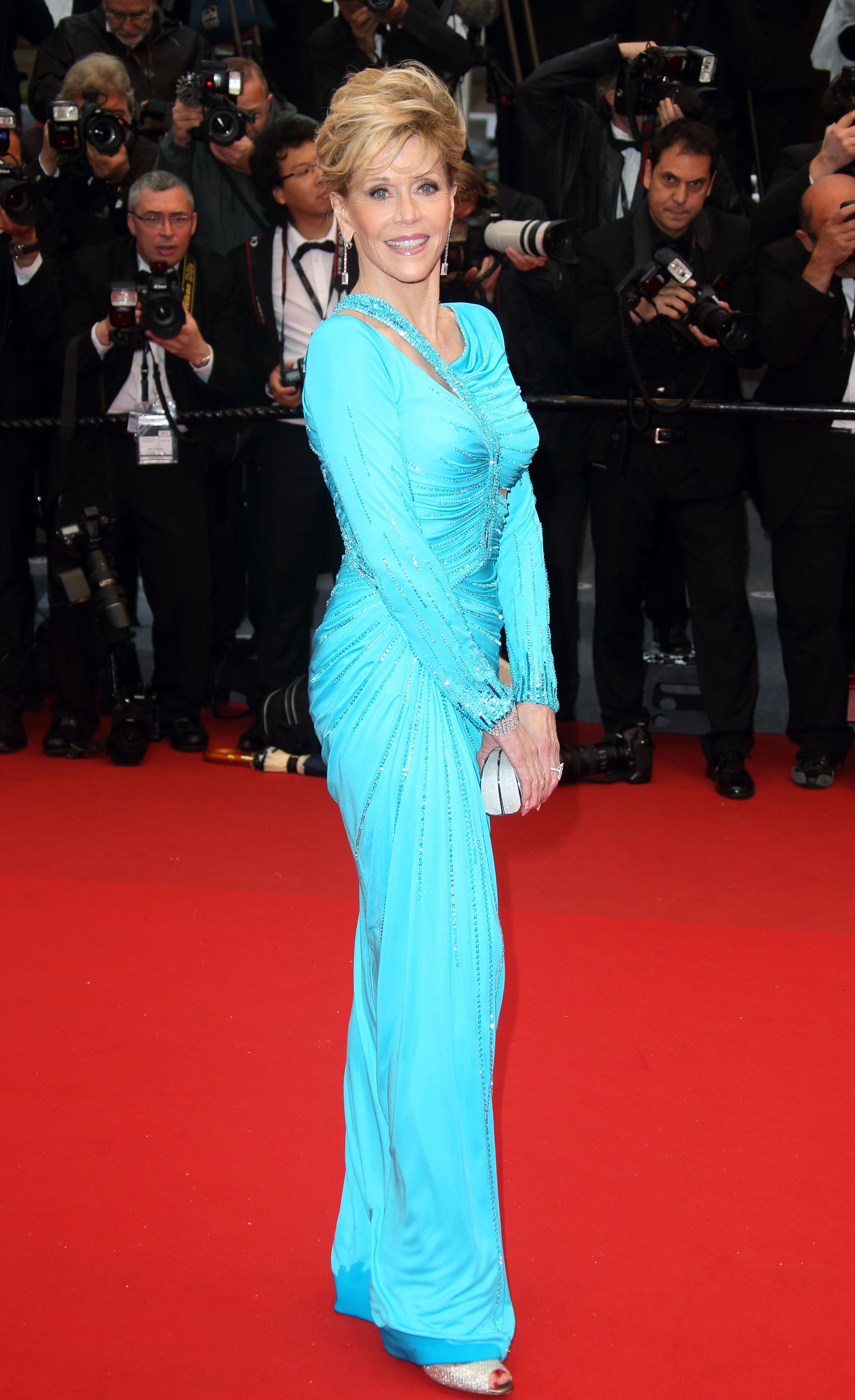 Jane Fonda hit the red carpet at the Jimmy P. premiere.