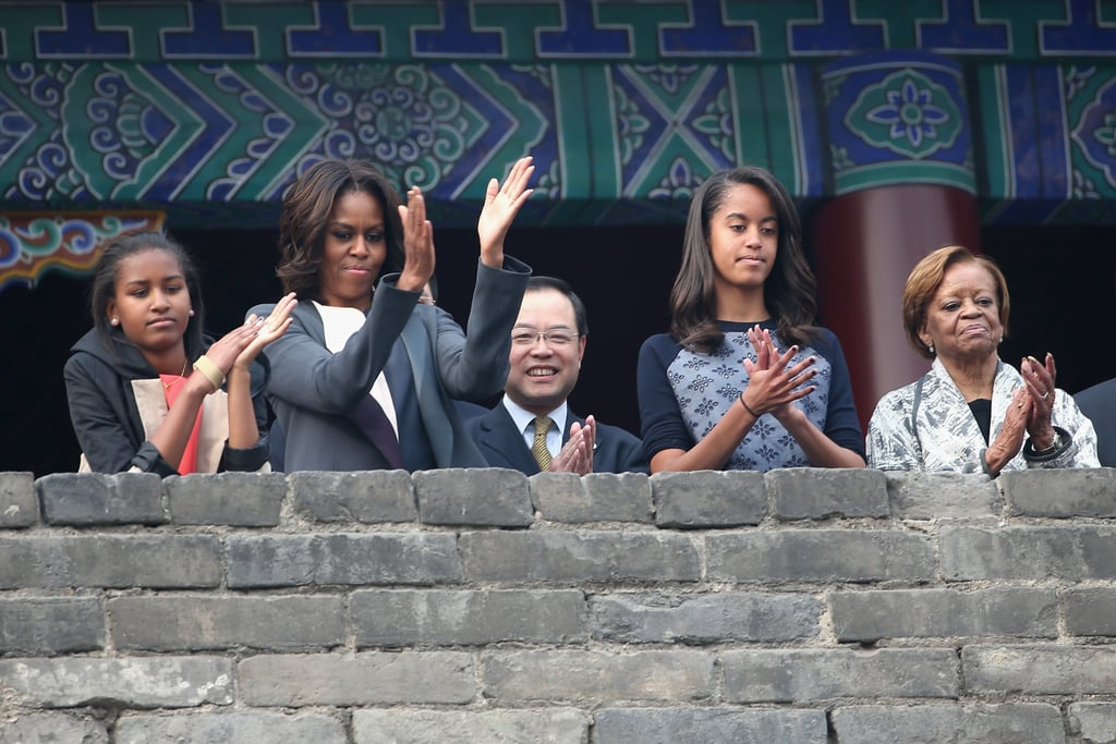 The group visited the Xi'an City Wall during their trip to China.