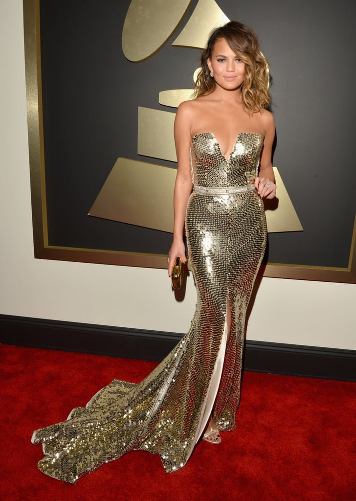 Chrissy Teigen at the Grammys 2014