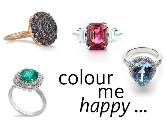 Shop Our Top 10 Coloured Stone Engagement Rings From Tiffany & Co, Cerrone, Canturi, Musson & More!