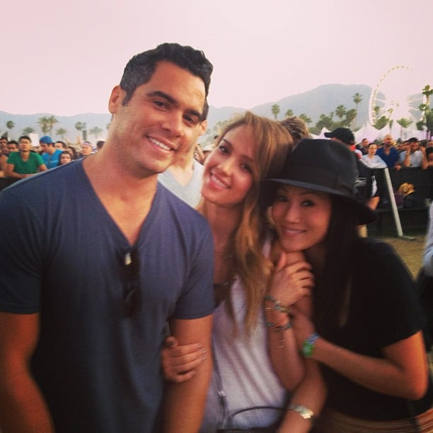 Jessica Alba and Cash Warren attended Coachella with friends. Source: Instagram user jessicaalba