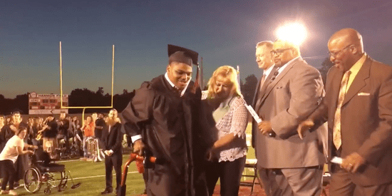Teen With Cerebral Palsy Walks For First Time To Get Diploma