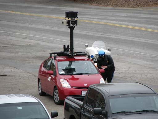 Google Street View Car Pulled Over by the Fuzz!