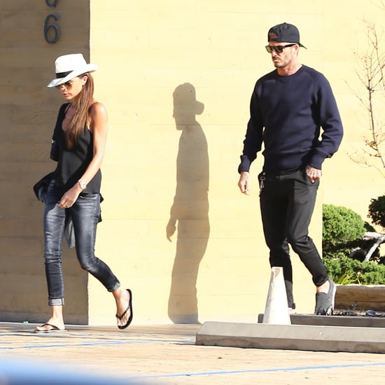 Victoria Beckham Wearing a White Hat and Jeans April 2016