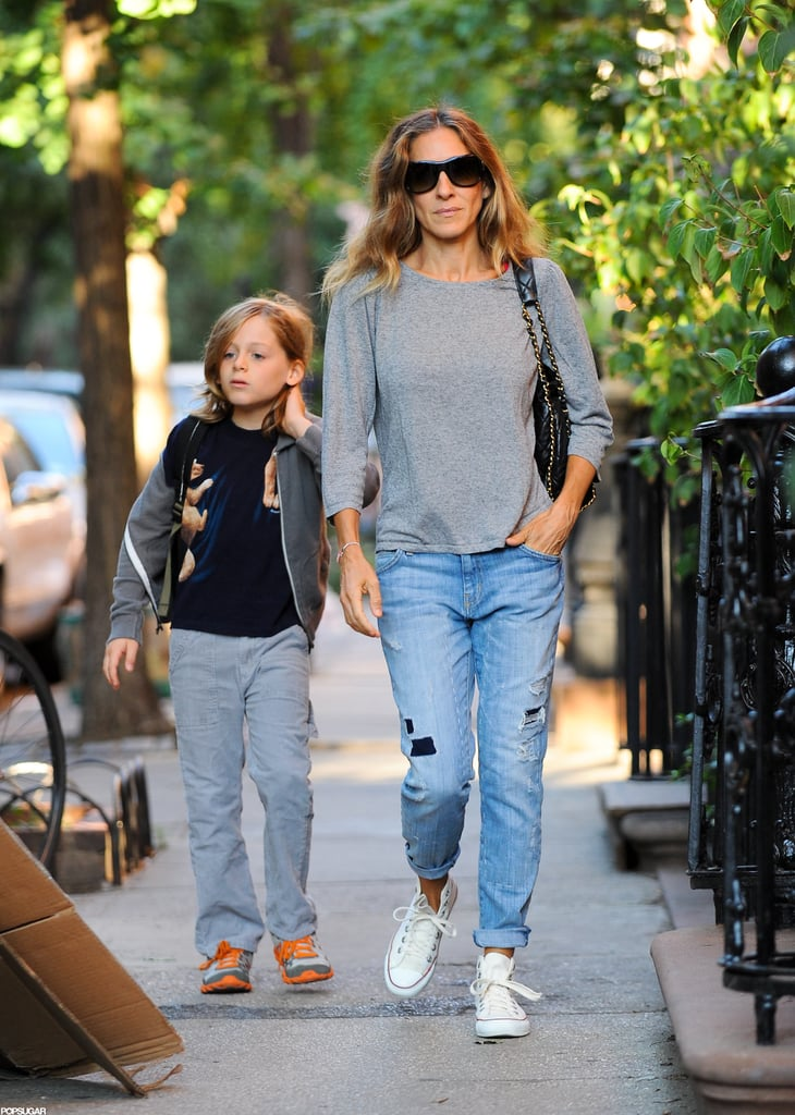 Sarah Jessica Parker took James Wilkie Broderick to school in NYC.