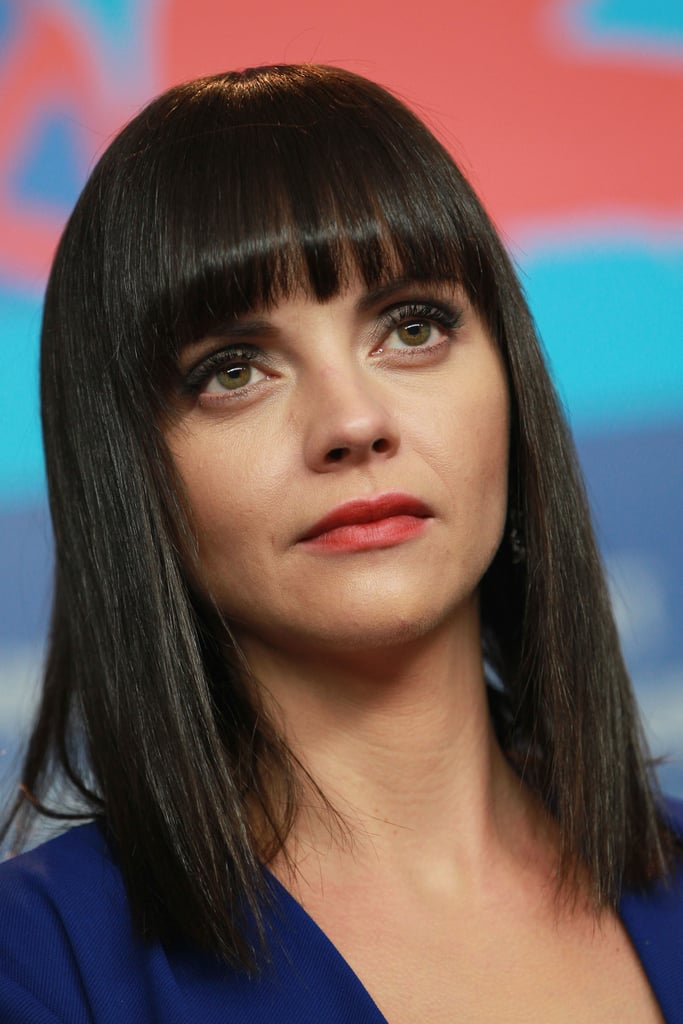 Christina was up for the early morning Bel Ami press conference.