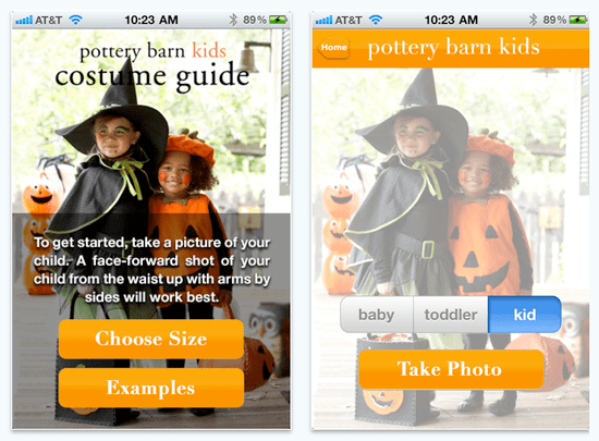 Pottery Barn Kids Costume Finder iPhone App For Kids