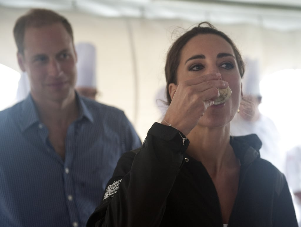 Kate Middleton tried some Canadian cuisine with Prince William.