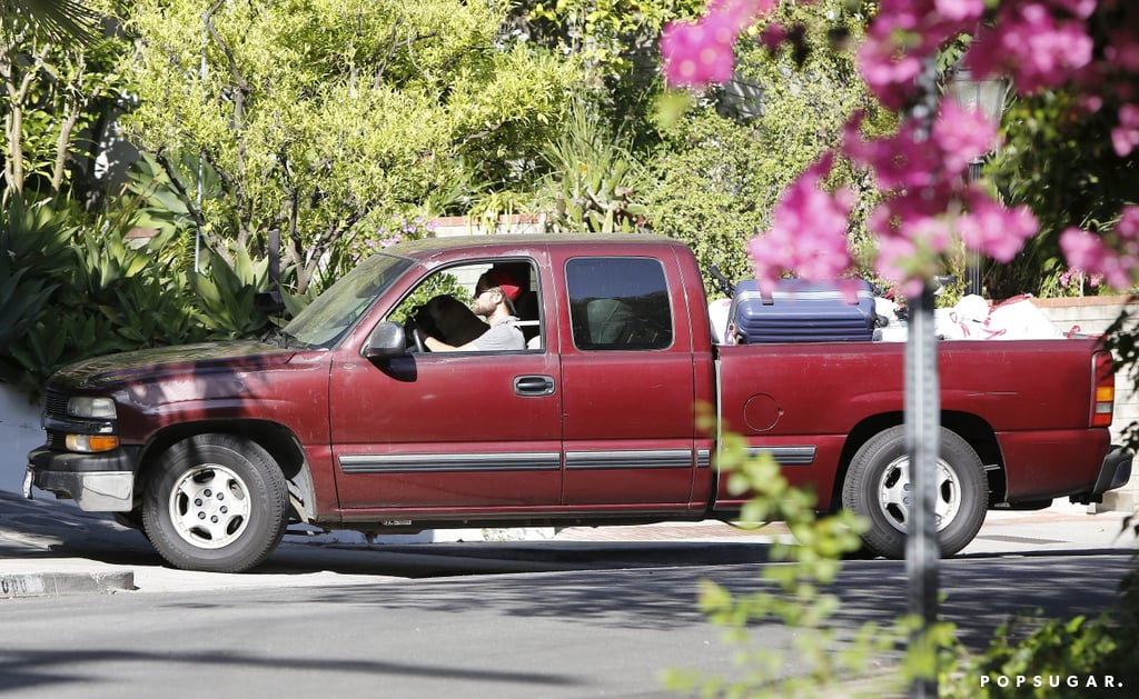 Robert Pattinson drove through Los Feliz.