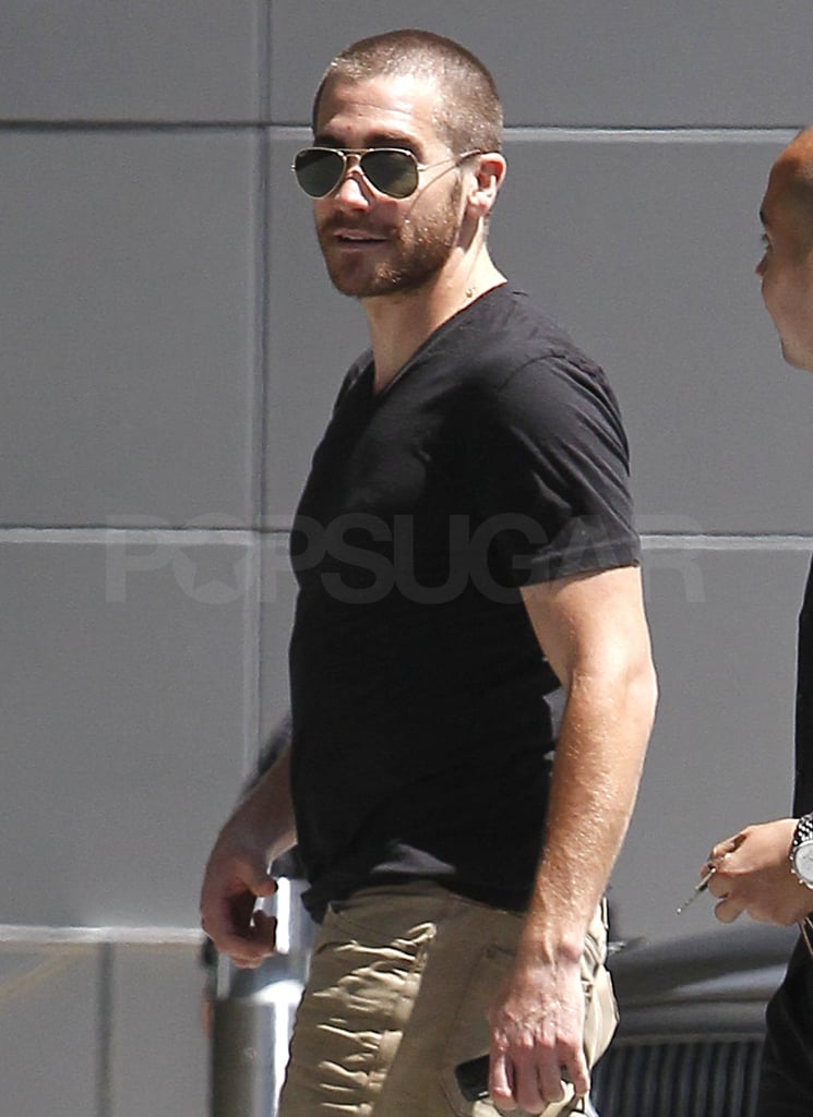 Jake Gyllenhaal Chops His Way Around LA With His Hot Buzz Cut