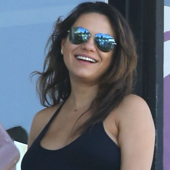 Pregnant Mila Kunis Goes to Yoga | Pictures