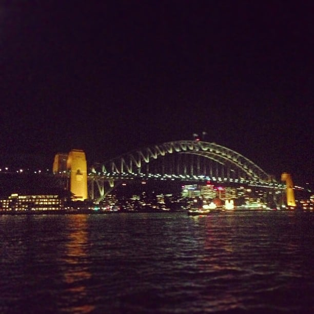 Another shot of the beautiful Sydney Harbour Bridge. She never has an off day, this girl.