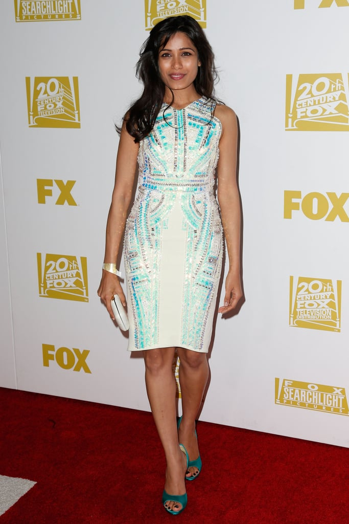 Freida Pinto attended the Fox Network Golden Globes party.