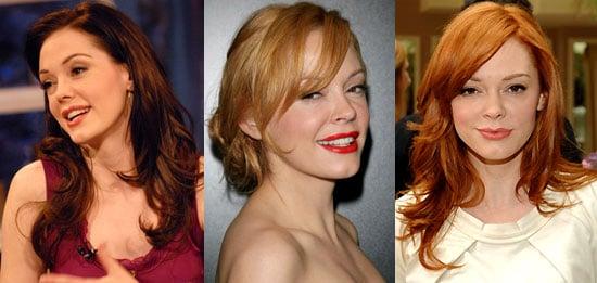 Rose McGowan's Red Hair
