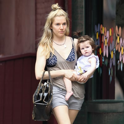 Sienna Miller and Tom Sturridge With Marlowe in NYC