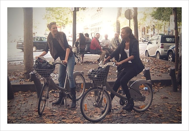 The friends who bike together . . .