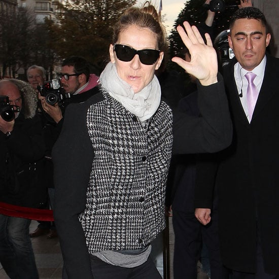 Celine Dion Wearing Houndstooth Jacket