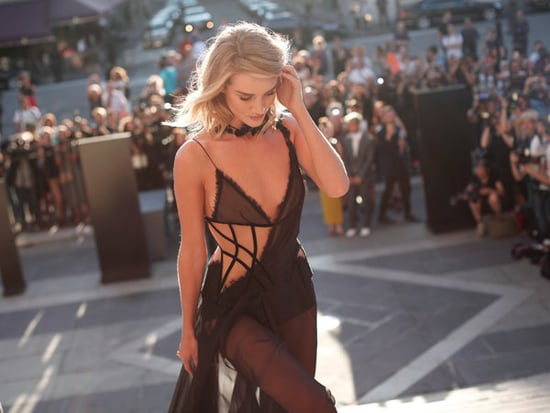 Rosie Huntington-Whiteley Slays The Sheer Trend At Paris Fashion Week