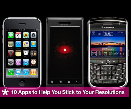 10 iPhone, Blackberry and Android Apps To Help You Stick To Your New Years Resolutions