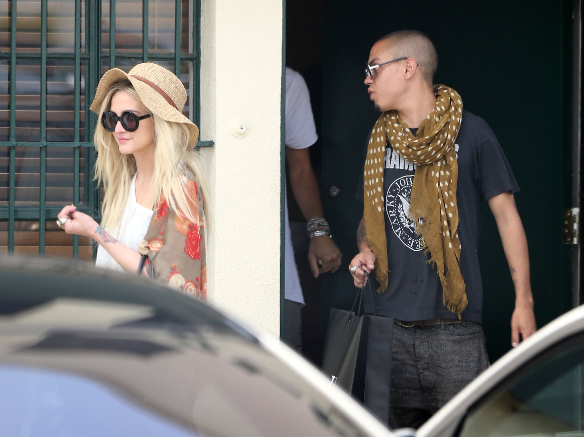Ashlee Simpson and Evan Ross grabbed lunch together.