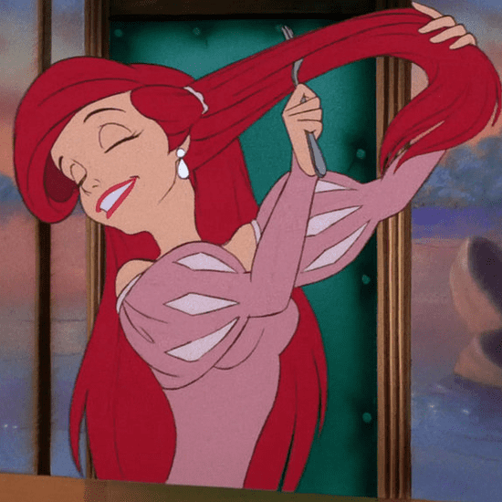 The Little Mermaid With Blonde Hair