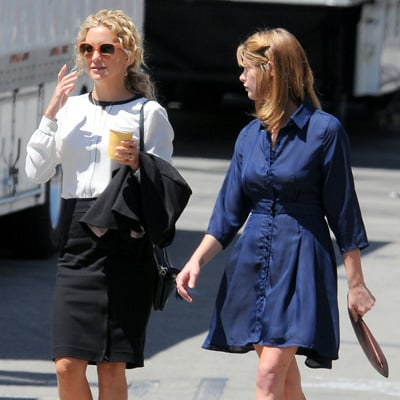 Kate Hudson and Ashley Greene on Wish I Was Here Set