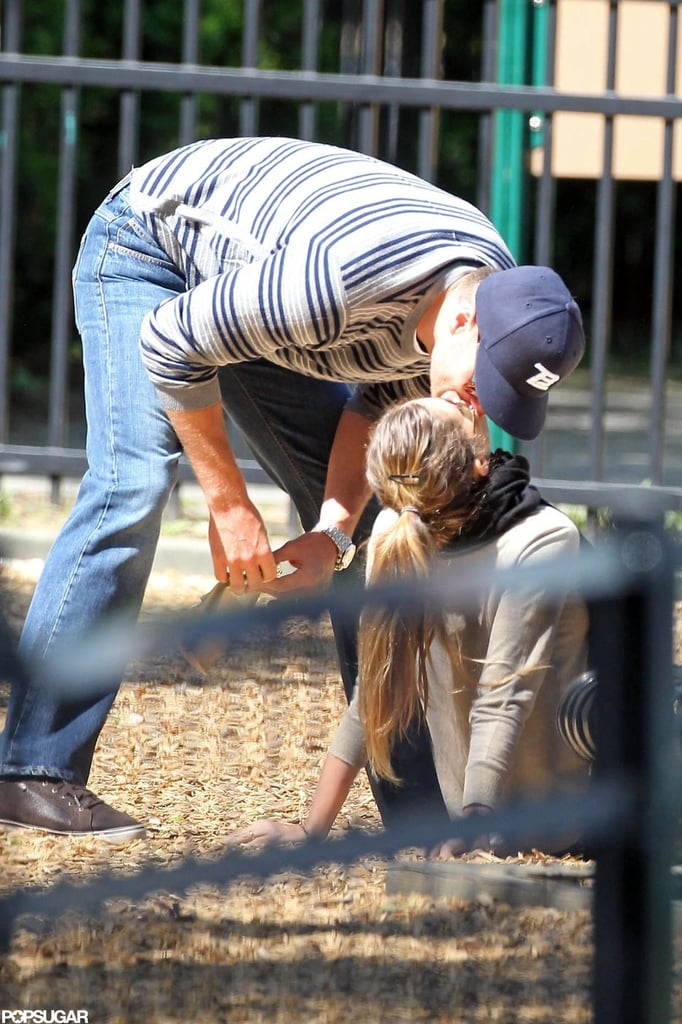 They brought their love to the sandbox at a Boston park in June 2012.