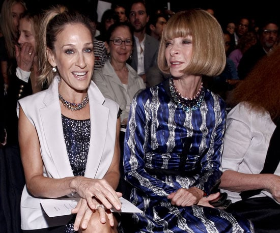 Slide Picture of Sarah Jessica Parker and Anna Wintour at the Narciso Rodriguez Show in NYC