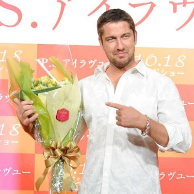 Gerard Butler Promotes P.S. I Love You in Tokyo