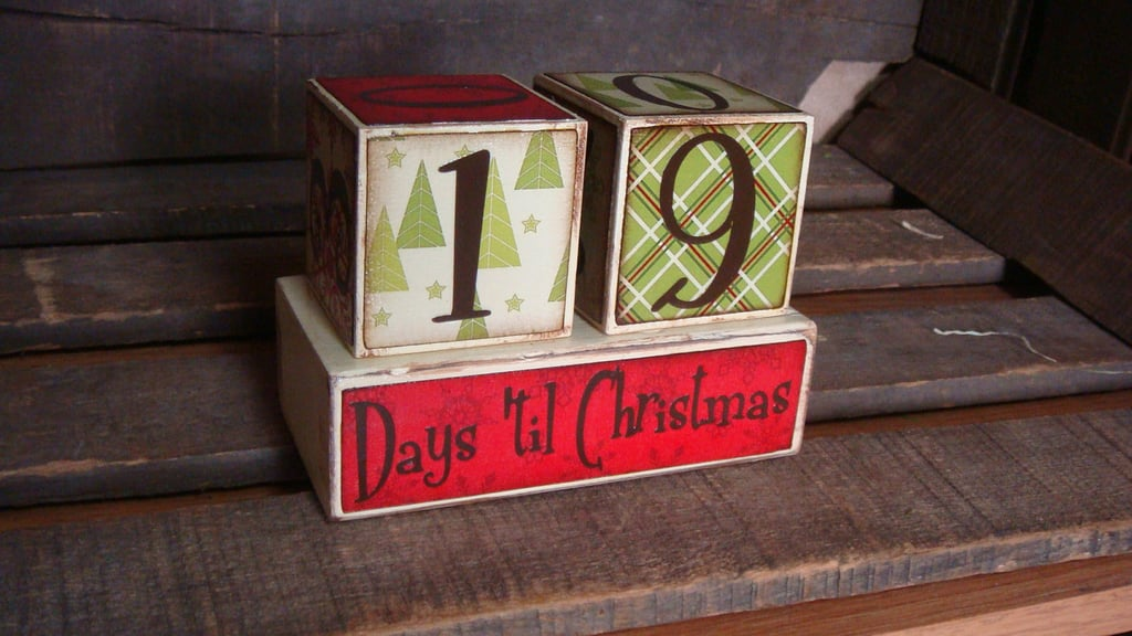 Christmas Countdown Advent Blocks ($16)