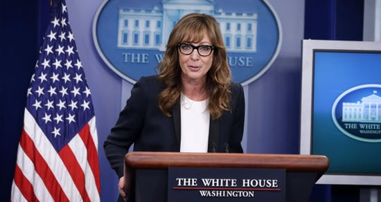 C.J. Cregg Delivers the White House Briefing Just Like on 'The West Wing'