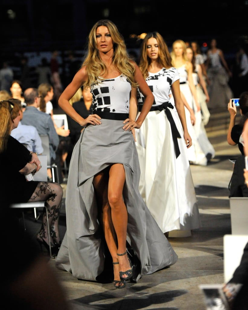 Gisele Bundchen took the catwalk at the Fashion's Night Out runway show in 2010.