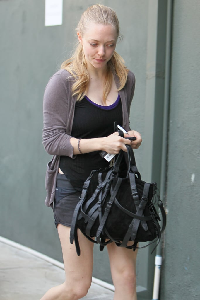 Amanda Seyfried Works Out Then Chows Down