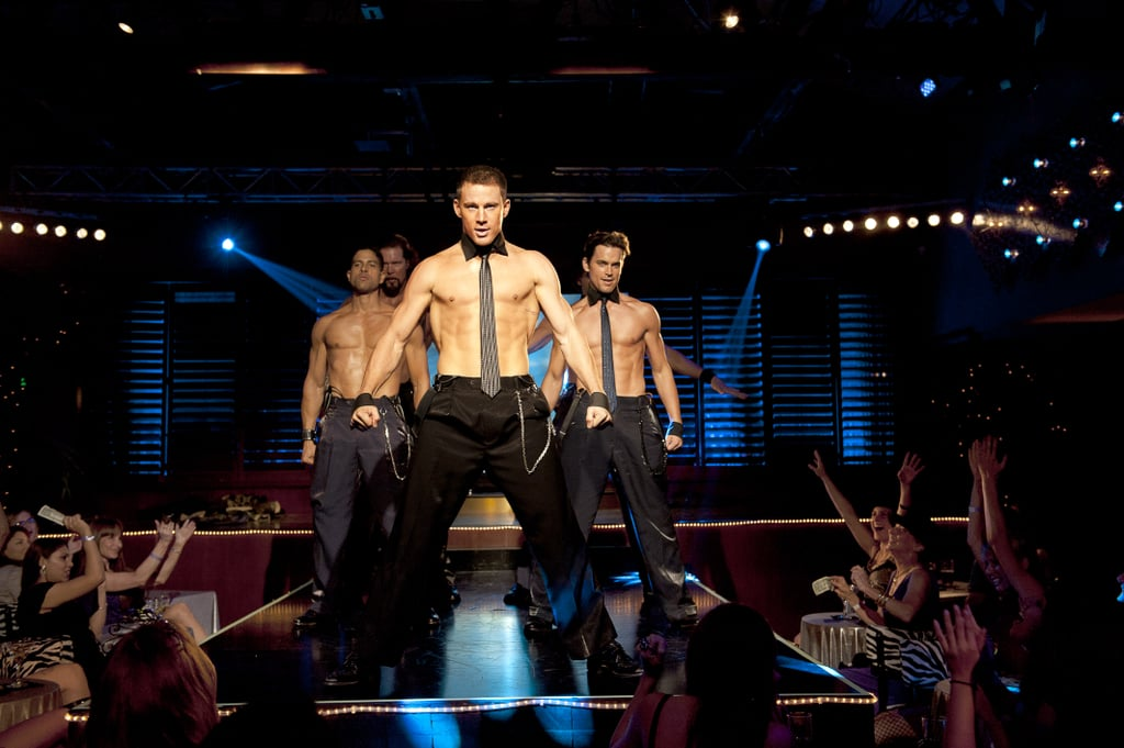 Channing Tatum went shirtless in Magic Mike.