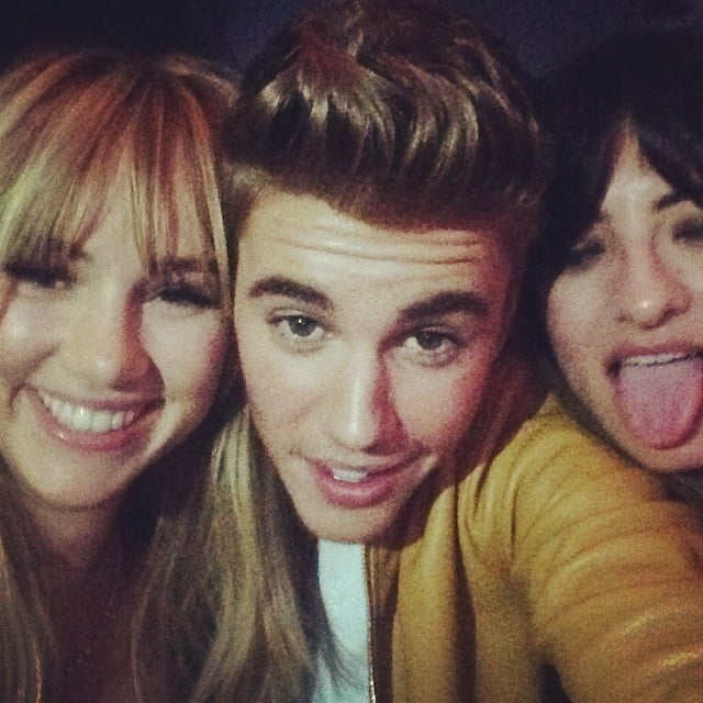 Suki Waterhouse snapped a photo with Justin Bieber. Source: Instagram user sukiwaterhouse
