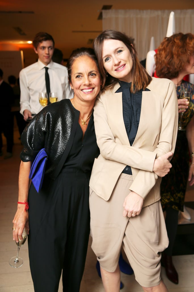 Maria Cornejo and Emily Mortimer at the Barneys cocktail party for Cornejo.