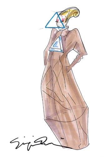 First Look: Giorgio Armani For Lady Gaga Costume Sketches