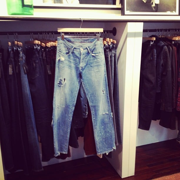 The perfectly distressed boyfriend jean, courtesy of Goldsign Jeans.