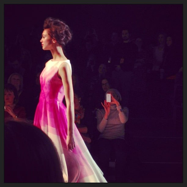 A beautiful pink gown from Lela Rose.