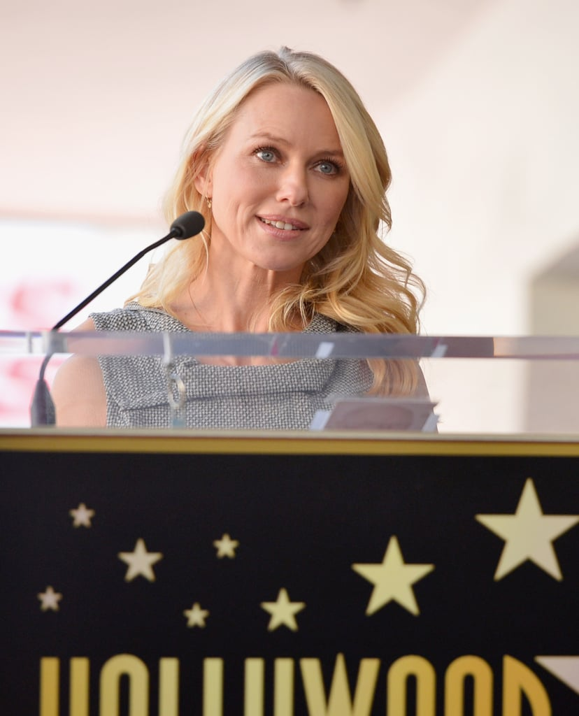 Naomi Watts gave a short speech before presenting Simon Baker with his honour.