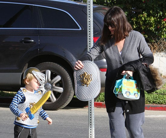 Photo of Liv Tyler With Her Son Milo, Who's Dressed Like a Knight, Out in LA