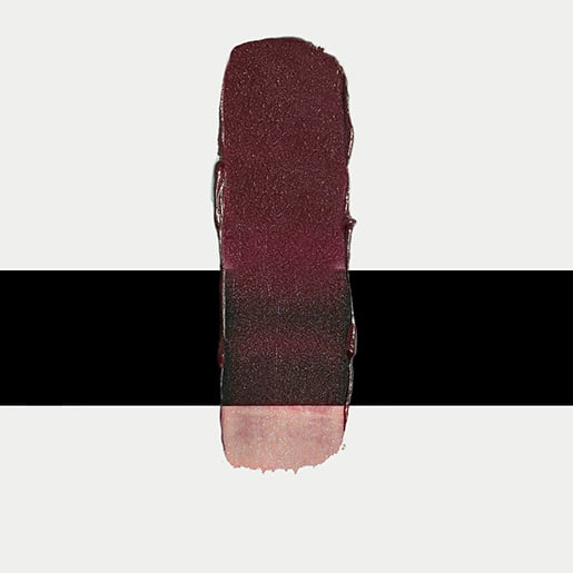 She used varying shades on eyes, cheeks, and lips, including the Silk Satin Lipstick in Beetroot ($18).