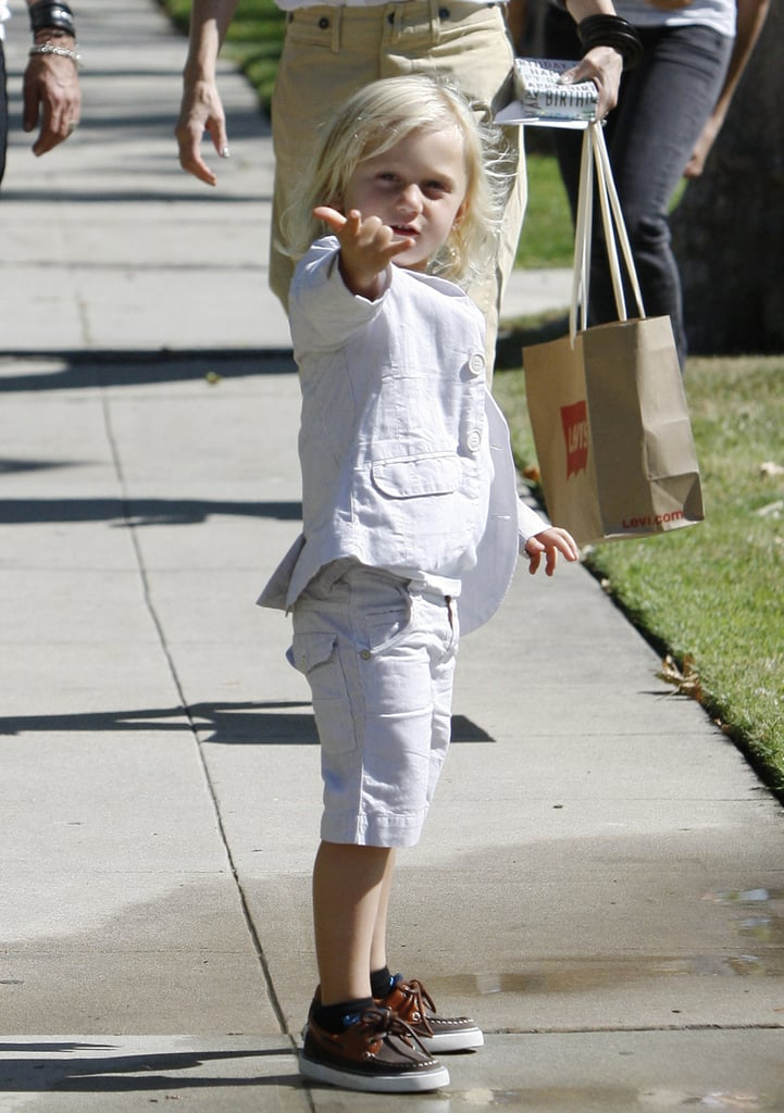 Zuma Rossdale was excited to celebrate Father's Day in LA.