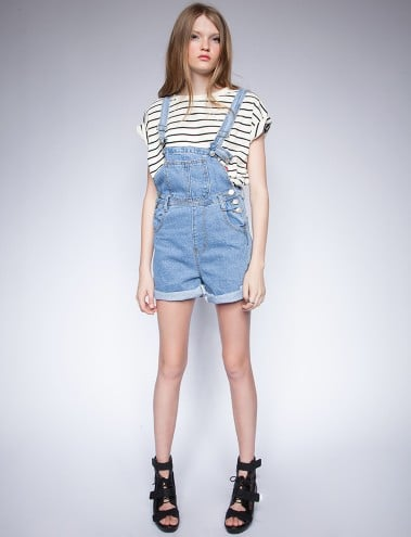 Wear these Pixie Market denim suspender shorts ($41) instead of your basic jeans — just add a cozy sweater and cool-girl ankle boots.