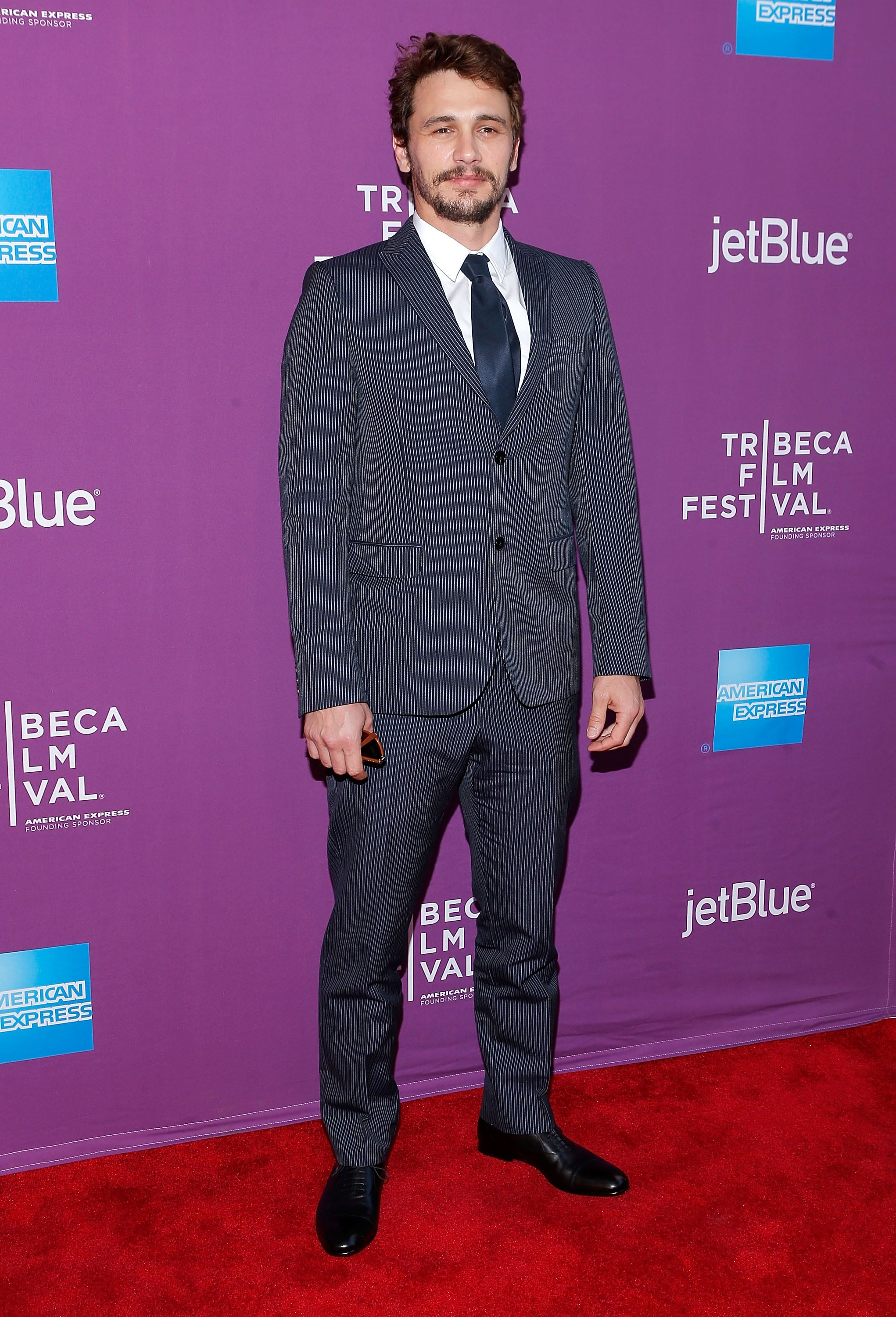 James Franco got dressed up in a suit for the premiere of The Director.