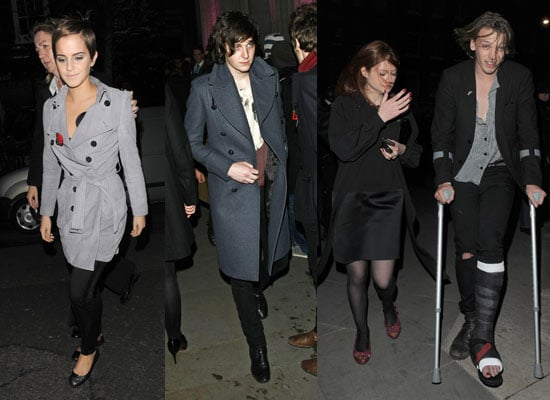 Pictures of Harry Potter and the Deathly Hallows Afterparty Inc Bonnie Wright, Jamie Campbell Bower, Emma Watson, George Craig