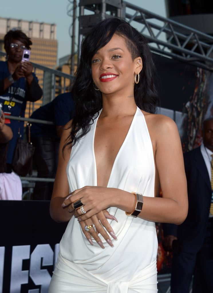 Rihanna posed at the premiere of Battleship in LA.