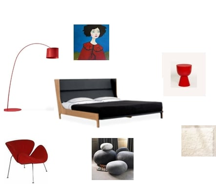 The Red Bedroom Two Ways: Modern and Romantic